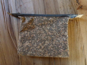 ✂ Geräumige Kosmetiktasche/Universaltasche aus Kork mit 2 Fächern ✂ genäht nach einem Schnitt aus einem Patchwork Heft  - Handarbeit kaufen