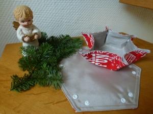 ✂★ 2 weihnachtliche Utensilos -Stoffkörbchen für weihnachtliche Tischdekoration - Plätzchen, Pralinen, ★✂ innen abwischbar ☆ Set 3 - Handarbeit kaufen