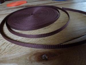 ✄3 Meter✄ Gurtband aus Polypropylen -  Braun - 1 cm breit - Träger zum Beispiel für Taschen - Handarbeit kaufen