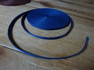 ✄3 Meter✄ Gurtband aus Polypropylen - blau - 1 cm breit - Träger zum Beispiel für Taschen   - Handarbeit kaufen