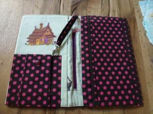 ♡Praktische Windeltasche - viel Platz zum Wickeln für unterwegs - pinkfarbene Sterne - handgefertigt -  ♡  - Handarbeit kaufen