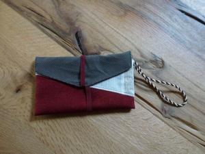 ♥ Kleine Handytasche aus Stoff ♥ 3 verschiedene Dekostoffe kombiniert, mit einem Reißverschluss auf der Rückseite ♥   - Handarbeit kaufen