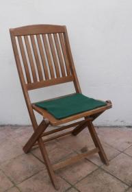 Sitzauflage aus zertifizierter ( ÖKOTEX 100) Schafwolle Strickfilz dunkelgrün - Handarbeit kaufen