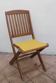 Sitzauflage aus zertifizierter ( ÖKOTEX 100) Schafwolle Strickfilz gelb - Handarbeit kaufen