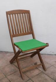 Sitzauflage aus zertifizierter ( ÖKOTEX 100) Schafwolle Strickfilz grasgrün - Handarbeit kaufen