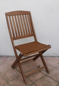 Sitzauflage aus zertifizierter ( ÖKOTEX 100) Schafwolle Strickfilz haselnuss - Handarbeit kaufen