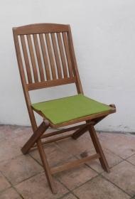 Sitzauflage aus zertifizierter ( ÖKOTEX 100) Schafwolle Strickfilz hellgrün - Handarbeit kaufen