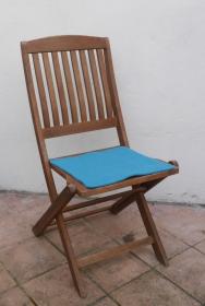 Sitzauflage aus zertifizierter ( ÖKOTEX 100) Schafwolle Strickfilz himmel - Handarbeit kaufen