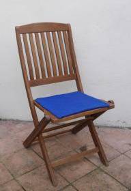 Sitzauflage aus zertifizierter ( ÖKOTEX 100) Schafwolle Strickfilz leuchtend blau - Handarbeit kaufen