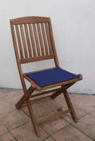 Sitzauflage aus zertifizierter ( ÖKOTEX 100) Schafwolle Strickfilz marine - Handarbeit kaufen