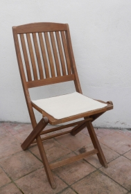 Sitzauflage aus zertifizierter ( ÖKOTEX 100) Schafwolle Strickfilz natur - Handarbeit kaufen