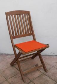 Sitzauflage aus zertifizierter ( ÖKOTEX 100) Schafwolle Strickfilz orange - Handarbeit kaufen