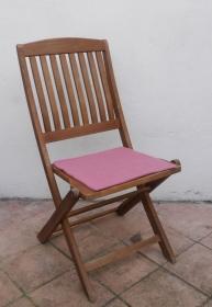 Sitzauflage aus zertifizierter ( ÖKOTEX 100) Schafwolle Strickfilz rosa - Handarbeit kaufen