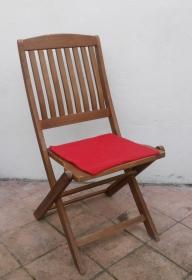 Sitzauflage aus zertifizierter ( ÖKOTEX 100) Schafwolle Strickfilz rot - Handarbeit kaufen