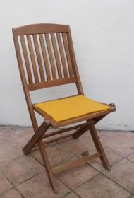 Sitzauflage aus zertifizierter ( ÖKOTEX 100) Schafwolle Strickfilz sonne - Handarbeit kaufen