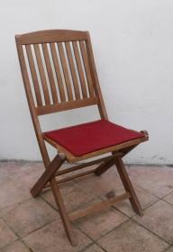 Sitzauflage aus zertifizierter ( ÖKOTEX 100) Schafwolle Strickfilz weinrot - Handarbeit kaufen