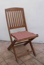 Sitzauflage aus Alpaka-/Schafwolle Mischung Strickfilz altrosa - Handarbeit kaufen