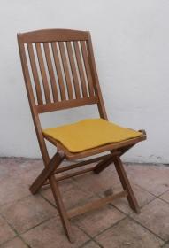 Sitzauflage aus Alpaka-/Schafwolle Mischung Strickfilz gelb - Handarbeit kaufen