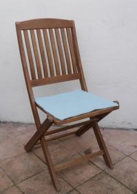 Sitzauflage aus Alpaka-/Schafwolle Mischung Strickfilz hellgraugrün - Handarbeit kaufen