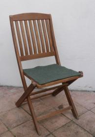 Sitzauflage aus Alpaka-/Schafwolle Mischung Strickfilz wald - Handarbeit kaufen
