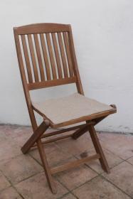 Sitzauflage aus Alpaka-/Schafwolle Mischung Strickfilz hellbraun - Handarbeit kaufen