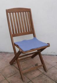 Sitzauflage aus Alpaka-/Schafwolle Mischung Strickfilz jeans - Handarbeit kaufen