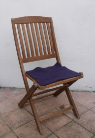 Sitzauflage aus Alpaka-/Schafwolle Mischung Strickfilz violett - Handarbeit kaufen