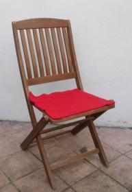 Sitzauflage aus Alpaka-/Schafwolle Mischung Strickfilz rot - Handarbeit kaufen