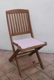 Sitzauflage aus Alpaka-/Schafwolle Mischung Strickfilz hellrosa - Handarbeit kaufen