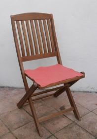 Sitzauflage aus Alpaka-/Schafwolle Mischung Strickfilz koralle - Handarbeit kaufen