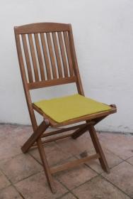 Sitzauflage aus Alpaka-/Schafwolle Mischung Strickfilz pistazie - Handarbeit kaufen