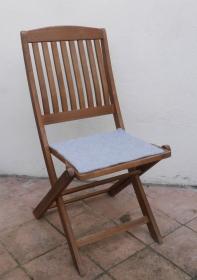 Sitzauflage aus Alpaka-/Schafwolle Mischung Strickfilz nebel - Handarbeit kaufen