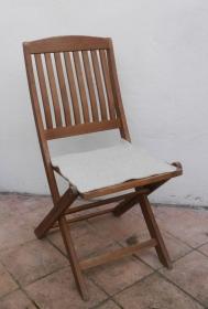 Sitzauflage aus Alpaka-/Schafwolle Mischung Strickfilz hellgrau - Handarbeit kaufen