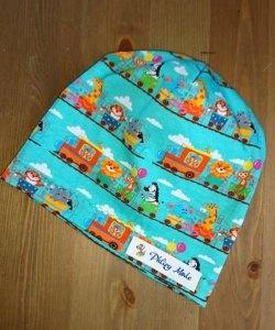 Mütze Beanie für Babys 38 cm KU genäht aus Jersey