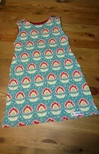 Kleid in Gr. 98 als Hängerchen  aus Lillestoff 100% Biojersey