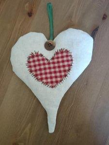 Stoffherz Vintage  liebevolles Deko Herz Landhaus Shabby Romantik
