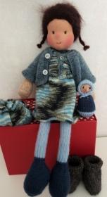 Waldorfpuppe - PUPPE - gestrickte Puppe - DOLL- Waldorfart - Handarbeit kaufen