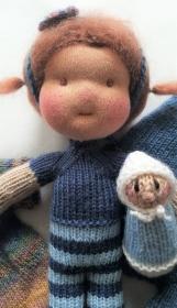 Waldorfpuppe - Puppe - Gestrickte Puppe- DOLL- Waldorfart - Waldorf - Handarbeit kaufen