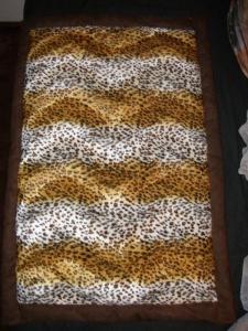 Indoordecke, ca. 60cm x 80cm, aus Fellimitat  mit Volumenvlies gefüttert (Kopie id: 100105937)