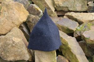 Handgefilzte Mütze /Kappe/Hut, Saunamütze, Saunakappe, Saunahut aus Wolle