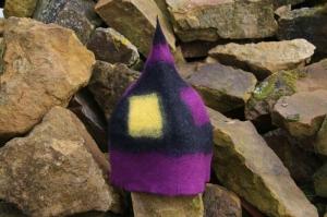Handgefilzte Mütze /Kappe/Hut, Saunamütze, Saunakappe, Saunahut aus Wolle - Handarbeit kaufen