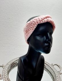 Stirnband rosa mit Glanzfaden - Handarbeit kaufen