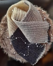 Schlichter, Schicker Schal * Strickschal im Blockstreifenmuster - Handarbeit kaufen