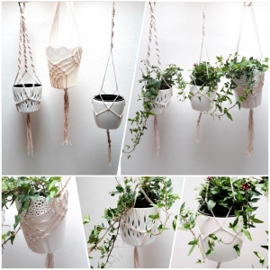 Makramee Blumenampel * verschiedene Muster ab 10€ * Handarbeit * Unikat * - Handarbeit kaufen