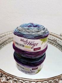 Woolly Hugs Bobbel Cotton Mirror * Blau Lila Grau * super edel, toller Farbverlauf - Handarbeit kaufen