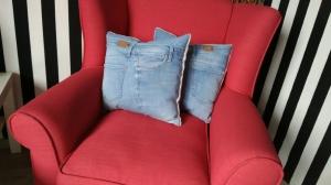 Kissen 2er Set Jeans