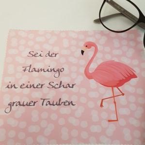 Flamingo Glas- und Brillenputztuch - Displayreinigungstuch - Mikrofasertuch individuell bedruckt (Kopie id: 24337)