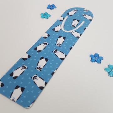 Individuelles Lesezeichen aus Aluminium - Pandabären