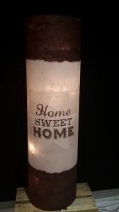 Leuchtröhrenlampe inkl. Lichterkette mit Strom/Motiv: Home Sweet Home