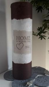 Leuchtröhrenlampe inkl. Lichterkette mit Strom/Motiv: Home is where the Heart is